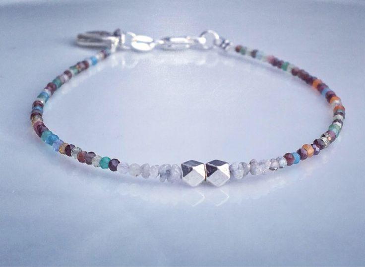 A personal favourite from my Etsy shop https://www.etsy.com/no-en/listing/546226948/diamond-bracelet-raw-multicoloured