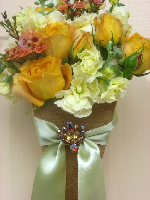 52 best wedding cones images on pinterest paper cones wedding gold floral cone w vintage pin mightylinksfo Image collections
