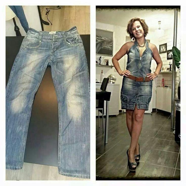 Transformer un jean en robe... J'adore l'idée... ...
