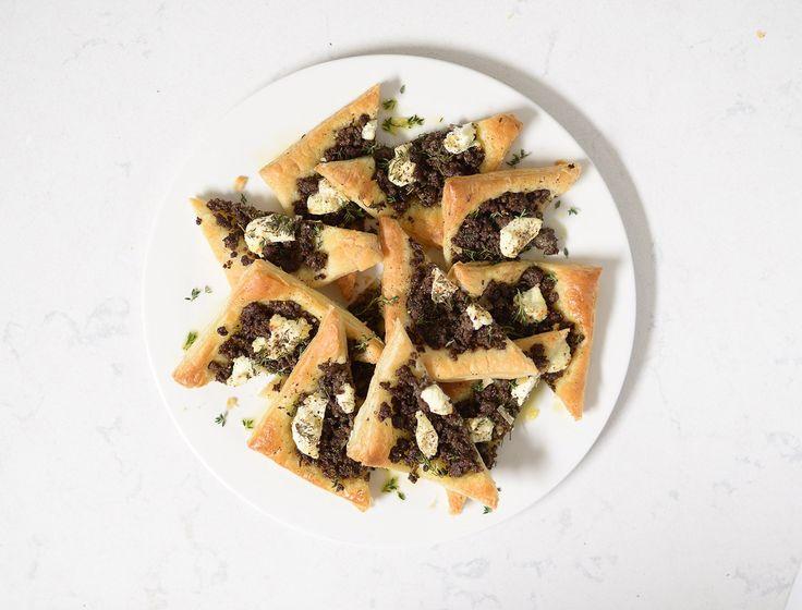 Beef, Mushroom & Chèvre Puff Pastry Tart