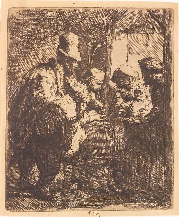 """Muzicieni ambulanți, cca 1635. Imagine din colecțiile Bibliotecii """"V.A. Urechia"""" Galați."""