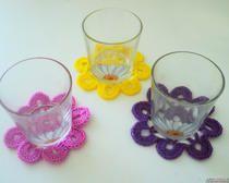 Вязание крючком для начинающих - салфетки под стаканы