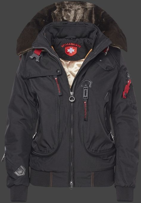Wellensteyn Rescue Jacket Lady Winter, RainbowAirTec, Schwarz, Größe S