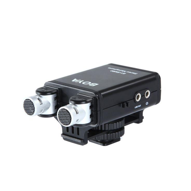 A bóia BY-SM80 é um microfone estéreo X / Y com uma qualidade de transmissão de som para a câmera SLR digital, câmera de vídeo ou condensador gravador de áudio. Este microfone proporciona maior controle de sua microfones de áudio interno da câmera DSLR, câmaras de vídeo ou gravadores digitais.