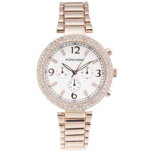 Monument Women's Rose Gold-tone Glam Watch Monument. $34.99. Save 50% Off!