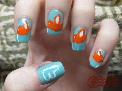 Wow, and there are even Twitter nails. Geez haha