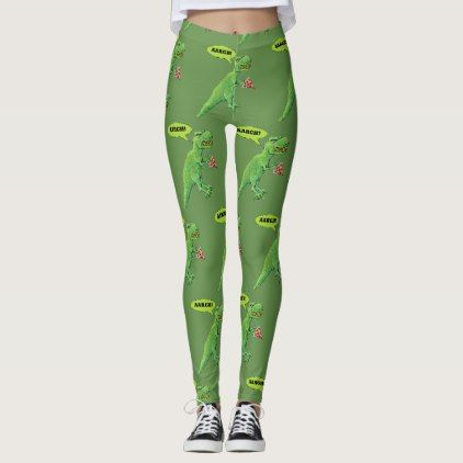 T-Rex Wants to Eat Pizza Leggings - diy cyo customize create your own #personalize