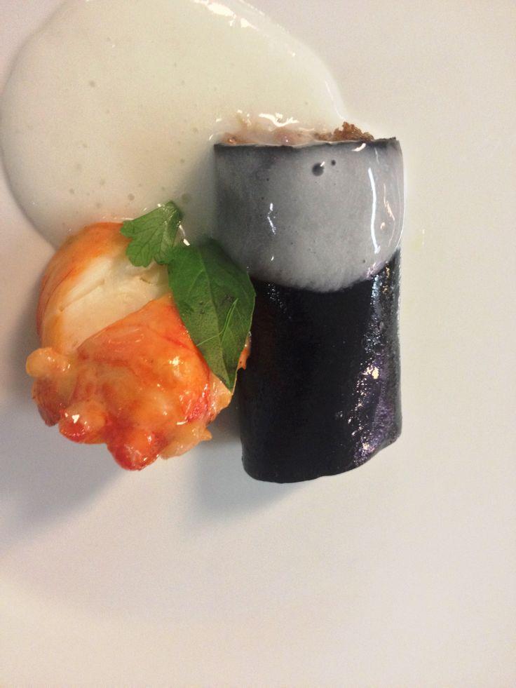 #Thanksgiving Menu! Black Cannelloni: Braised #ShortRib and #Lobster Grana Padano cheese foam. Get excited! #EsperanzaResort