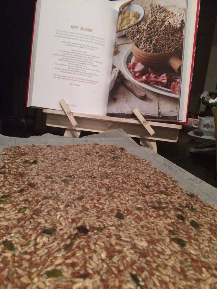 Seed crisps from Real meal revolution. Better than bread!