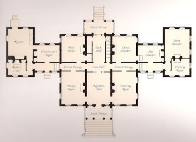 Georgian manor house floor plans