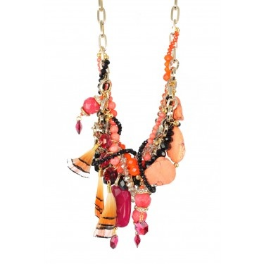 Amazing Orange and Black Chunky Necklace from Owl of Eden, available at Venus Boutique, 405 Hay Street, Subiaco http://venusboutique.com.au/
