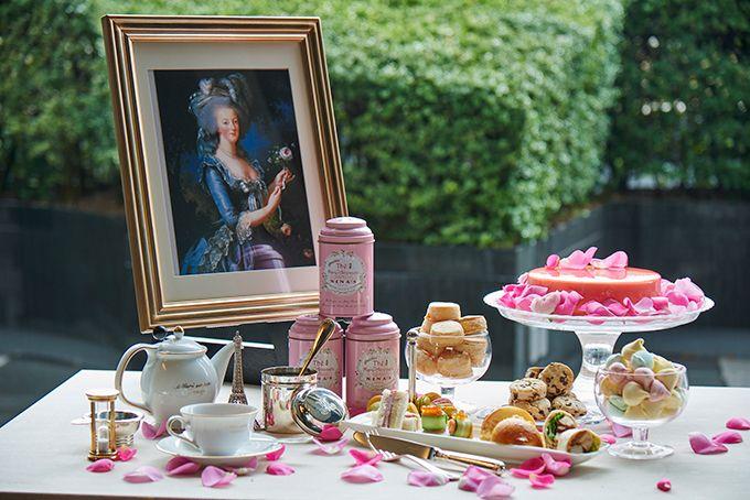 グランド ハイアット 東京 フレンチ アフタヌーンティー マリー アントワネットが愛したティータイムをイメージ