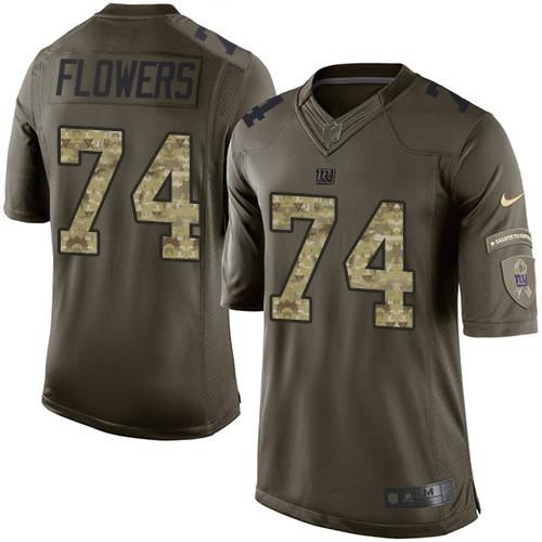 Youth Nike New York Giants #74 Ereck Flowers Limited Green Salute to Service NFL Jersey