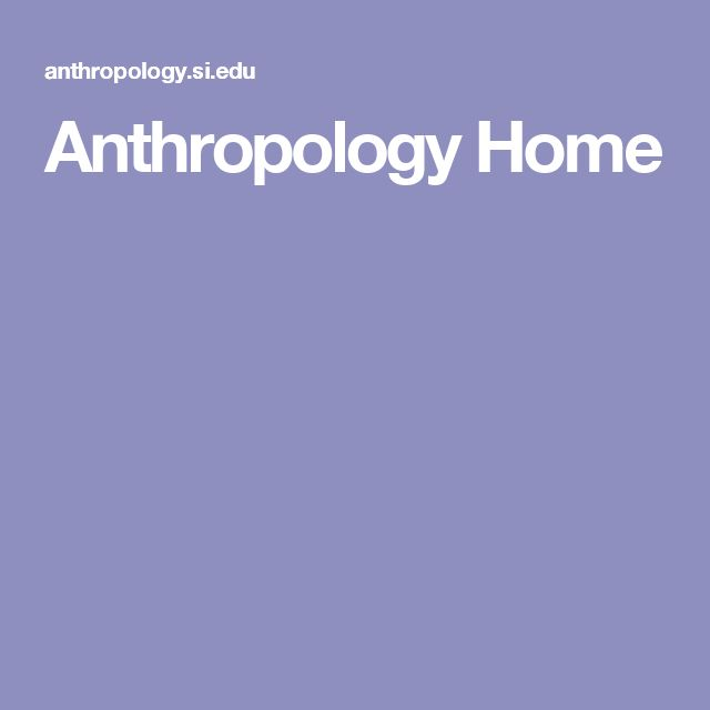 Anthropology Home
