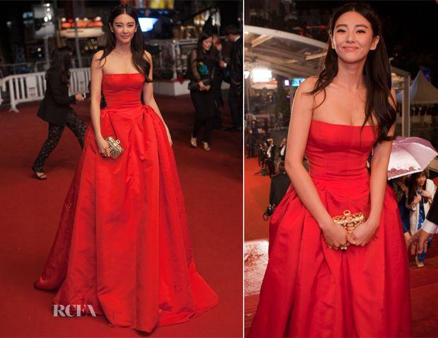 Zhang Yuqi In Alexander McQueen – 'Soshite Chichi Ni Naru' Cannes Film Festival Premiere - love a red gown