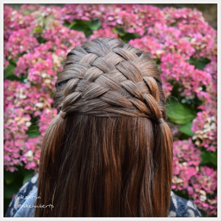 Weave Braid Into Two Side Ponytails Vlecht In Foto S