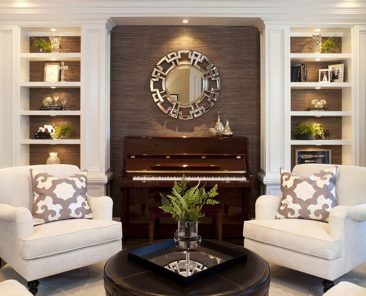 Stylish Transitional Living Room Robeson Design