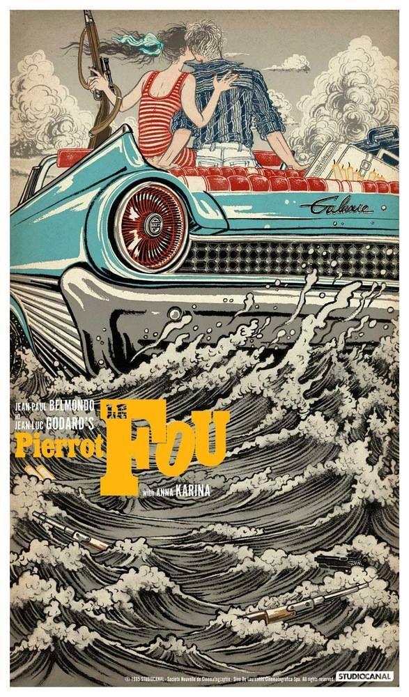 Godard Pierrot Le Fou official poster pop art edition by Yuko Shimizu *