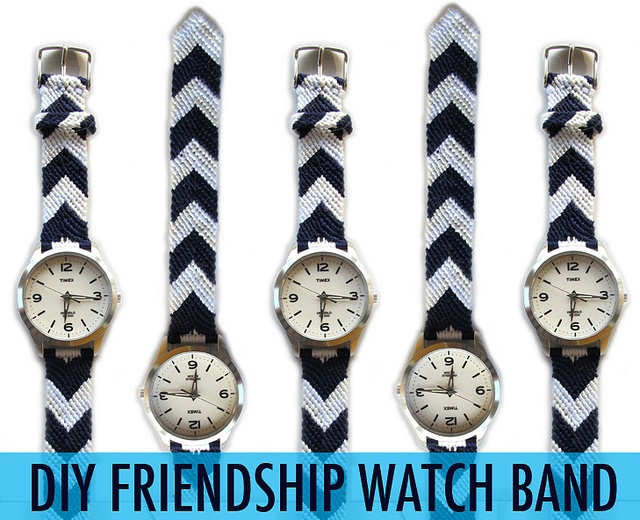 DIY Friendship Watch Band via whatiwore.tumblr.com by What I Wore Jessica, via Flickr