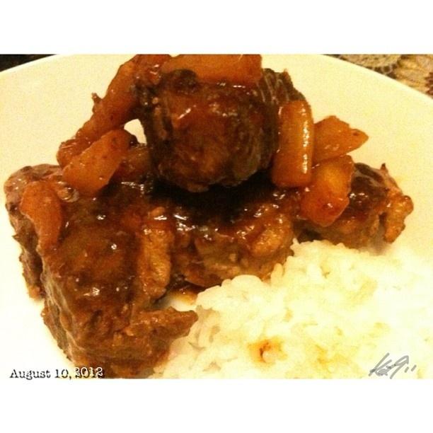 イイよ! かみさんの新作 wifes new #dish #pineapple #sparerib #dinner #food #philippines #フィリピン #料理
