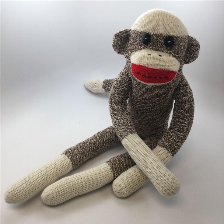 "Sock Monkey made from the ""Original Rockford Red Heel"