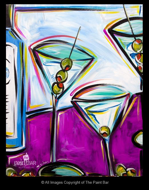 Bombay Martinis Painting - Jackie Schon, The Paint Bar