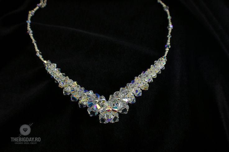 The Big Day   #1-0027 Colier Swarovski Princess http://thebigday.ro/ #Swarovski #swarovskijewelry #jewelry #handmadejewelry #wedding #mireasa #bijuterii #cristale #bijuteriimireasa #nunta
