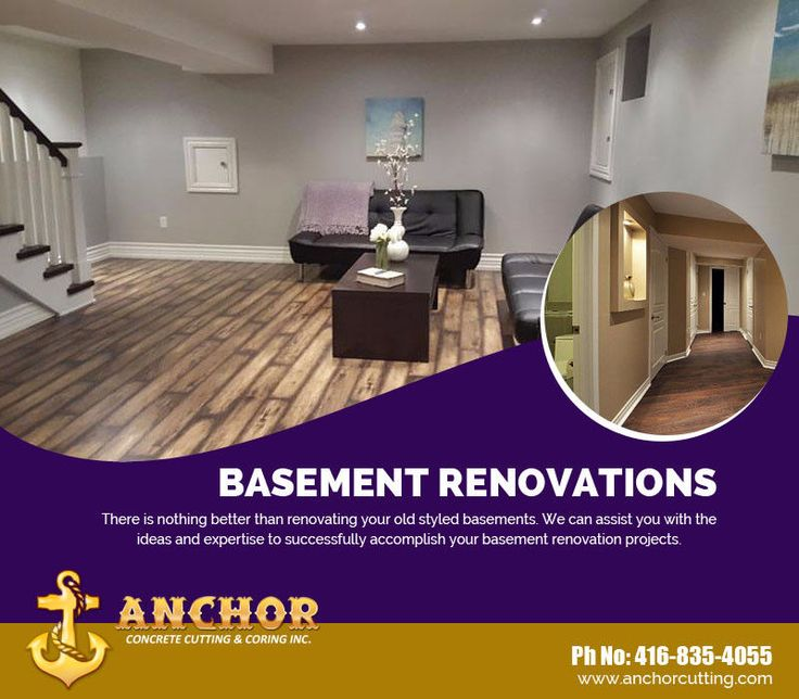 Anchor #Concrete #Cutting and #Coring Inc. is committed to providing high #quality #Basement #Renovation #services in #Toronto. We offer complete #basementrenovations and #finishing for all of your home #improvement needs. For more detail contact us:- 416-835-4055