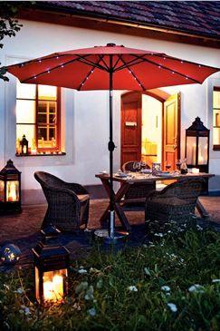 Incarca-te cu relaxare... #gradina #seara #umbrela #lumini #kikaromania #decoratiuni #accesorii #mobilier