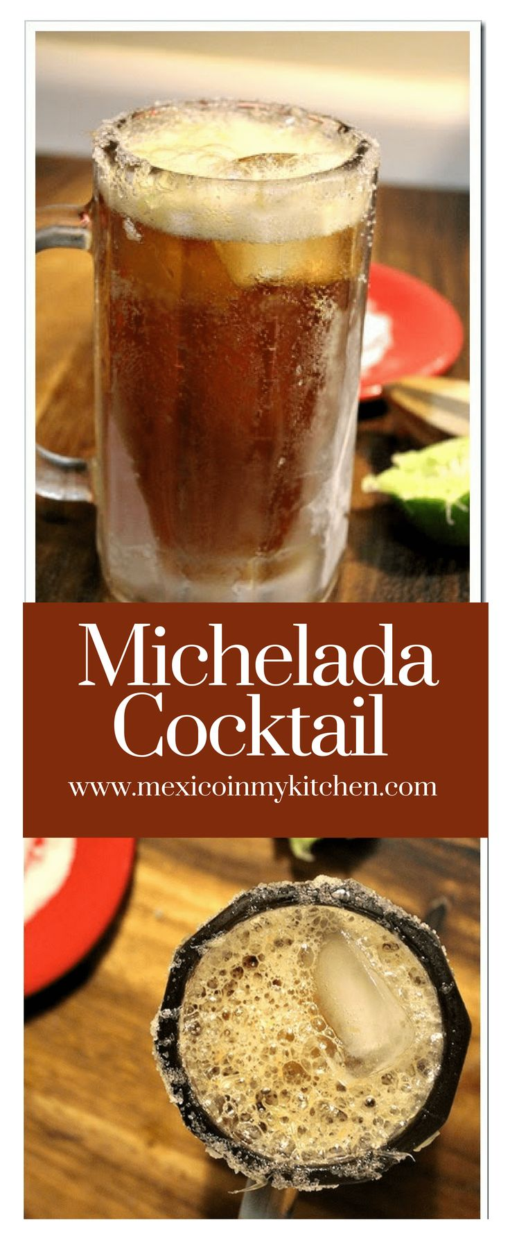 """Michelada Cocktail │ In central Mexico, people use this simple and basic recipe, but in other regions, more spices are added, and it's also known as a """"Chelada"""" #mexicanrecipes #mexicanfood #michelada #kitchen #drinks"""