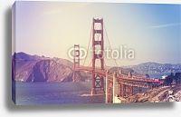 Постер США, Сан-Франциско. Мост Золотые Ворота