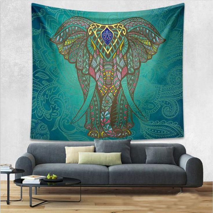 [ $4.99 ] Bohemian Ornate Elephant Tapestry Wall Hangings