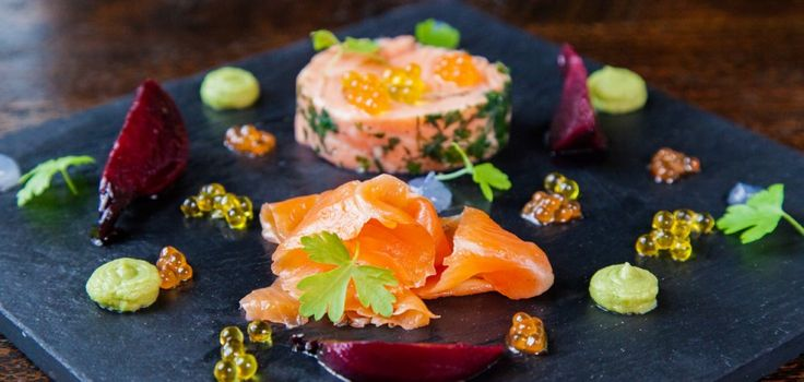 the ocean trout entrée with gin and tonic gel and pickled beetroot | Malt Restaurant Brisbane | Style Magazines | Photography by Bridget O'Brien