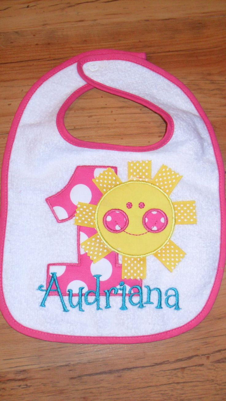 Boutique First Birthday Sunshine Bib You are by doodlebugdesigns34, $14.00