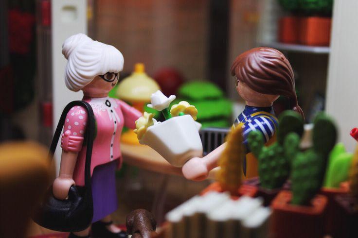 Thank you! #playmobil #flowers #shop