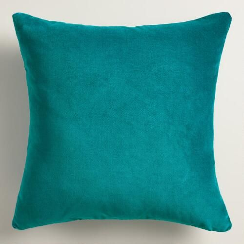 crafted of luxurious cotton velvet our teal throw pillow is a classic accent for any