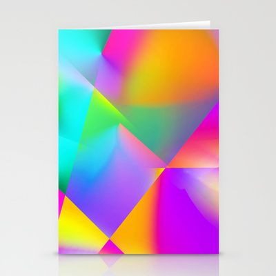 Expressionist Cubes Stationery Cards by The Digital Weaver - $12.00