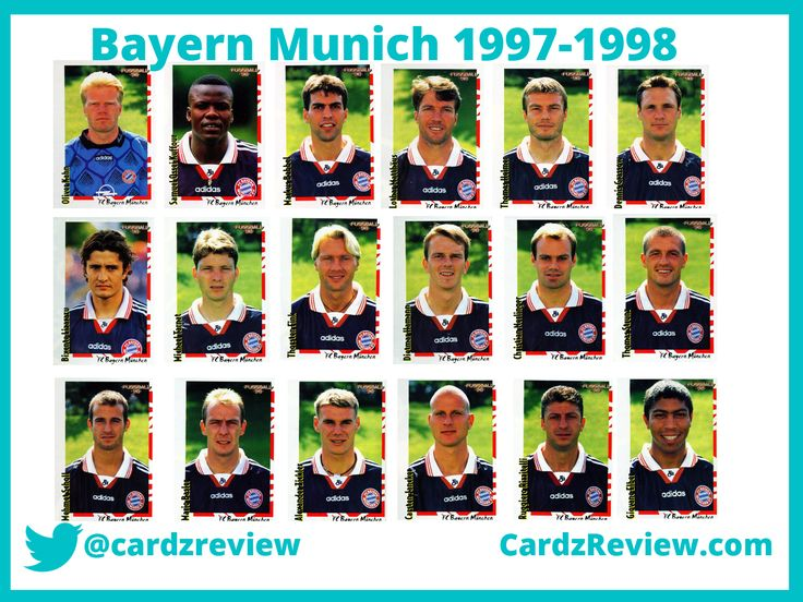 Bayern Munich players (team) from 1997/98