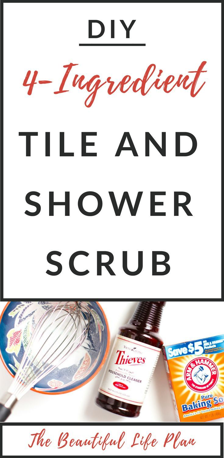 DIY Shower and Tile Scub