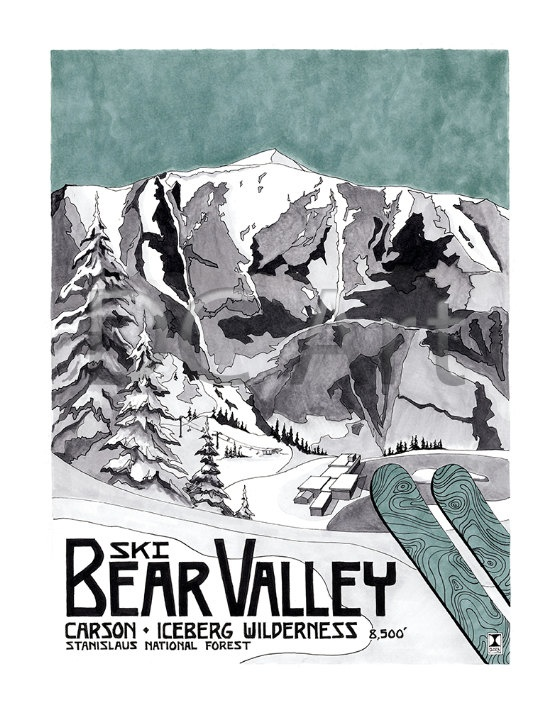 Bear Valley Travel Print by Dave Christian, A Traveler's Tale