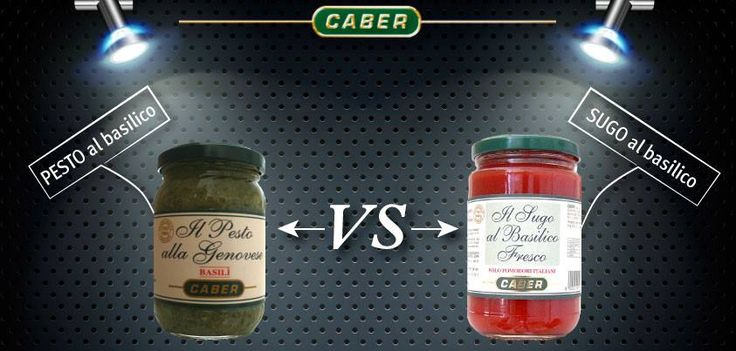 ...Chi vince?! #cucina #tavola #pesto #sugo al #basilico #caber #sfida