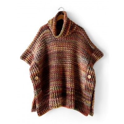 Free Easy Women's Poncho Crochet Pattern