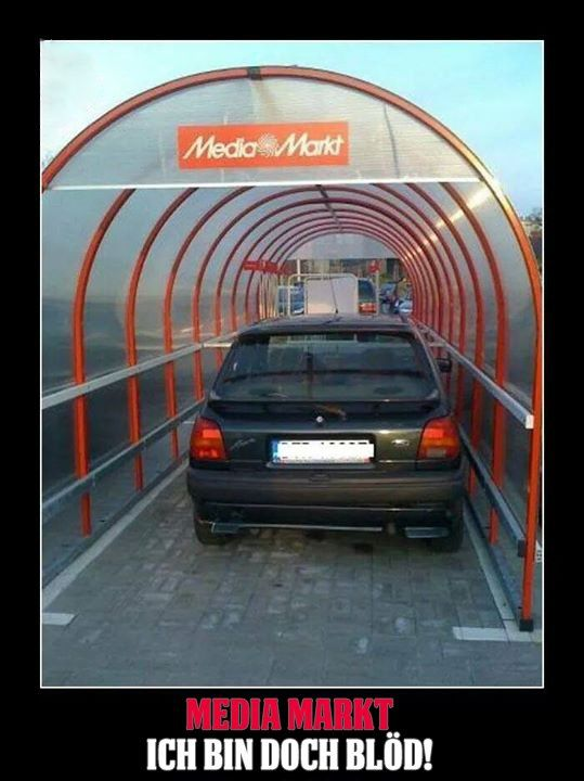 Cool, überdachte Parkplätze! | Webfail - Fail Bilder und Fail Videos                                                                                                                                                                                 Mehr