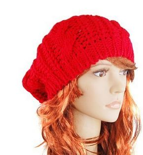 slouchy hat for women red free ship