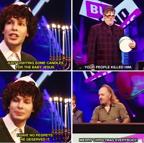 "The time it became apparent that no one was off limits. Not even messiahs. | 24 Perfect Simon Amstell Comebacks From ""Never Mind The Buzzcocks"""
