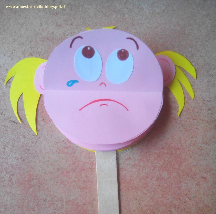 Muito boa esta ideia para trabalhar sentimentos e emoções com os alunos   Cada criança poderá construir seu fantoche, colando as part...
