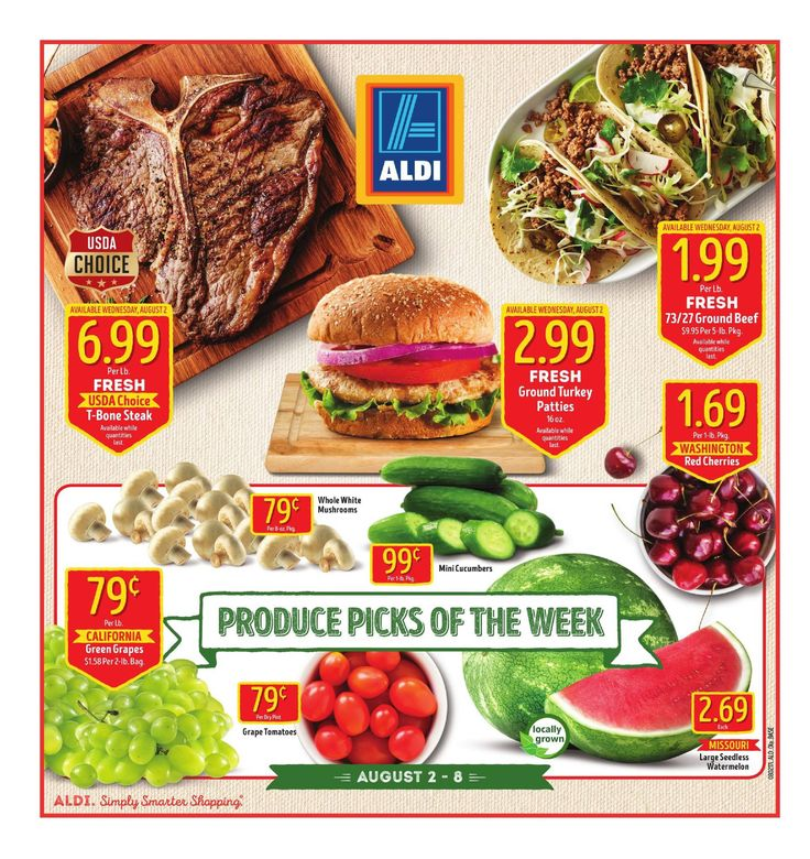 Aldi Weekly Ad August 2 - 8, 2017 - http://www.olcatalog.com/grocery/aldi-ad.html