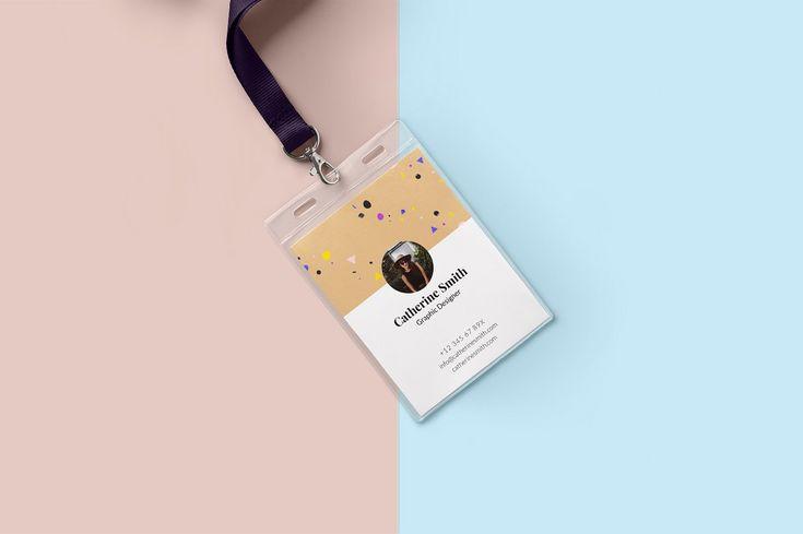 Minimal Creative ID Card Design by Editéur Plus on @creativemarket