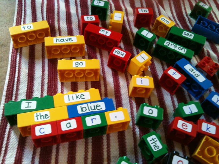 Lego Word Work. Visit the blog for a recording sheet to go with it!