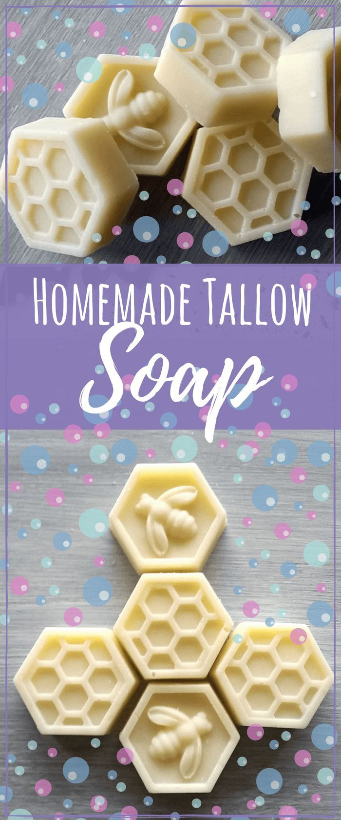 This homemade tallow soap recipe will help moisturize your skin very well since tallow is similar to our own skin properties. #soapmaking #soaprecipes #skincarerecipes #skincare via @simplepure